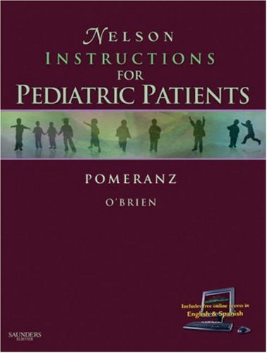 Nelson's Instructions for Pediatric Patients, 1e