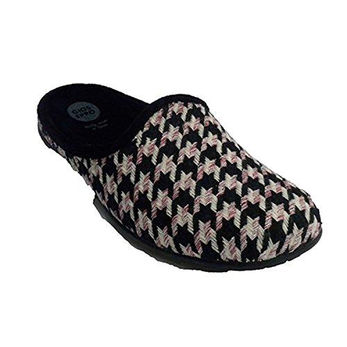 Flip-flop a casa in tre colori donna combinato Gioseppo nero taille 37