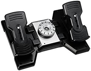 Saitek PZ35 Pro Flight Rudder Pedals Palonnier simulation de vol pour PC