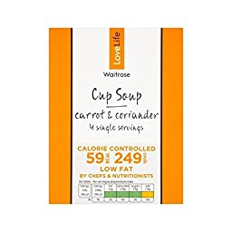You Count Carrot & Coriander Cup Soup Waitrose Love Life 4 x 16g - Pack of 6