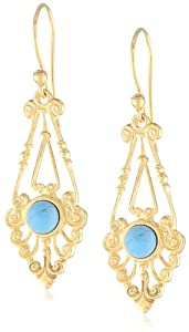 Eddera Jewelry Morgane Turquoise Earrings