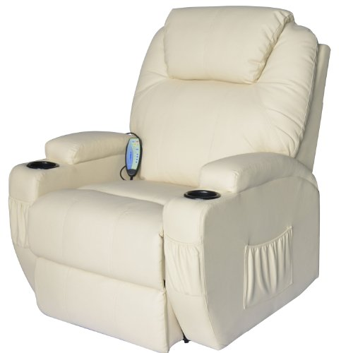 Review Of HomCom Deluxe Heated Vibrating PU Leather Massage Recliner Chair