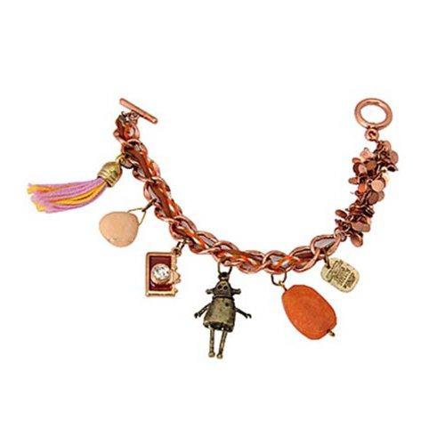Styonal Styonal Chunky-Funky Bronze Robot Charm Fashion Bracelet For Women (Brown)