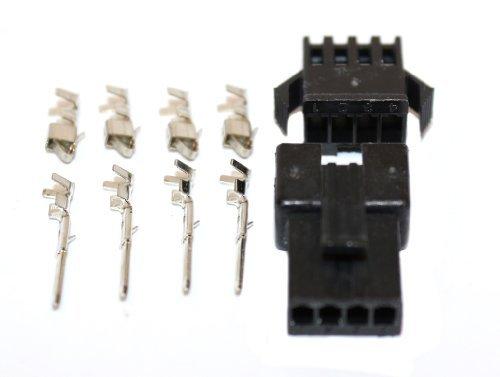 JST/SM-R/P 4 Pin Stecker/Buchse Pärchen inkl. Buchsen/Kontakt, M und F, 5 Pärchen/Pckg