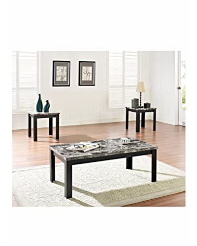 ACME Furniture 3-Piece Coffee/End Table Set, Black