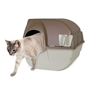 Omega Paw Self-Cleaning Litter Box, Regular, Taupe