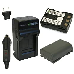 Wasabi Power Battery and Charger Kit for Canon NB-2L NB-2LH BP-2L5 BP-2LH EOS 350D 400D Digital Rebel XT XTi PowerShot G7 G9 S30 S40 S45 S50 S60 S70 S80 DC410 DC420 VIXIA HF R10 HF R100 HF R11