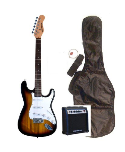 "39"" Full Size Sunburst Electric Guitar With 10 Watt Amp (Includes, Gig Bag, Whammy Bar, Strap, Cable, Pick, Strings & Directlycheap(Tm) Translucent Blue Medium Guitar Pick)"
