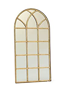 50 window pane wall mirror brass divided for Gold window mirror