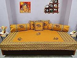 Hav 8 piece Diwan set- Yellow
