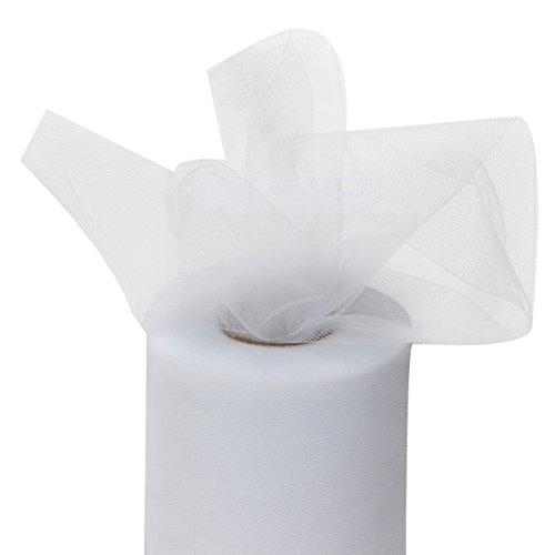 KING DO WAY Rouleau Ruban tulle tissu bobine dragées mariage fête baptême Voiture déco 80M blanc