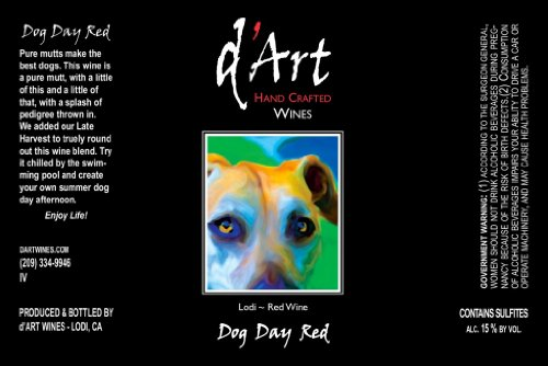 NV d'Art Wines Dog Day Red Blend Lodi 750mL