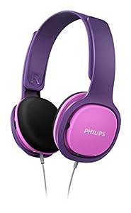 Philips SHK2000PK/00 Leichtkopfhörer inkl. Laustärkebegrenzung pink