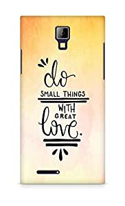 AMEZ do great things with love Back Cover For Micromax Canvas Express A99