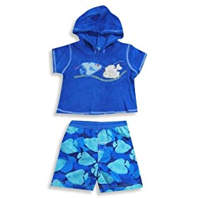 Isababies - Infant Boys Bathing Suit And Coverup, Blue