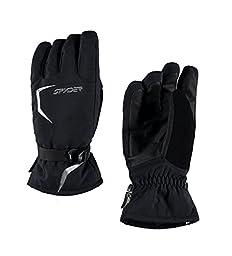 Spyder Men\'s Traverse Gore-Tex Glove, Black/Black/Polar, Small
