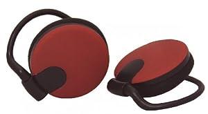 yby Comfort Fit Clip On Headphones - Dark Red/Black