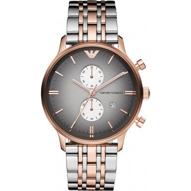 Emporio Armani - AR1721 - Montre Mixte - Quartz Chronographe - Bracelet Acier Inoxydable