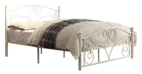 Homelegance 2021Fw-1 Metal Platform Bed, Full, White front-993310