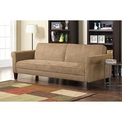 Ashton Microfiber Sleeper Sofa, Tan