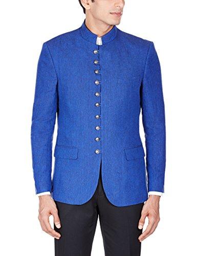 John Miller Men's Linen Blazer (8907130653569_OJ0653_38_Blue)