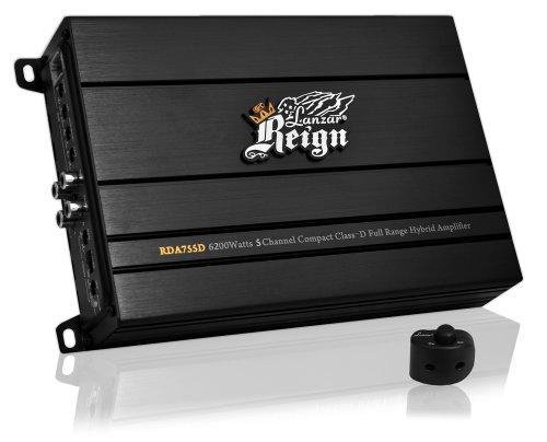 Lanzar Rda755D Reign 6200 Watt 5-Channel Compact Class-D Full Range Hybrid Amplifier