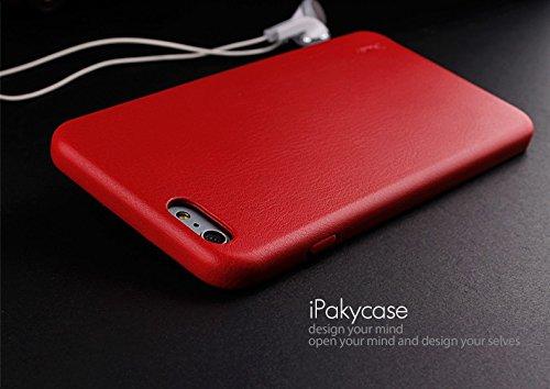 Casecart iPaky Top-Quality Luxury Leather Ultra Thin Back Cover for Apple iPhone 6/6S - RED