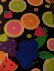 Staples Two Pocket 3 D Poly Folder 3 D Fruit Medley