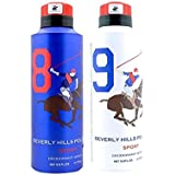 Beverly Hills Polo Club Combo Of 2 Deodorants No 8 & No 9 Men - 175 Ml (175 Ml Each)