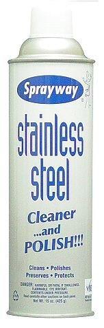 Sprayway Stainless Steel Cleaner & Polish Aerosol 15 Oz