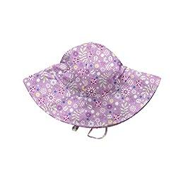 i play. Baby Girls\' Brim Sun Protection Hat, Lavender Wildflower, 0-6 Months