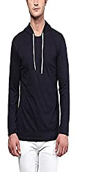 SOLID MENS HOODED FULL T-SHIRTS