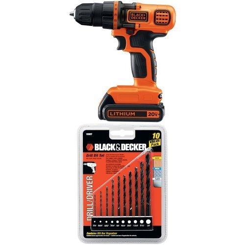Black-Decker-LDX120C-20-Volt-MAX-Lithium-Ion-Cordless-DrillDriver