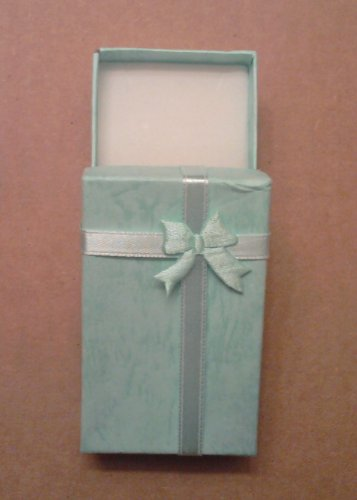 Baby Blue Jewelry Gift Box with Bow