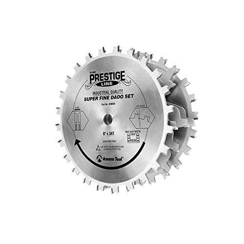 Amana Tool 658060 Prestige Super-Fine 8-Inch by 24 Tooth 5/8-Inch Bore Dado Set (Amana Super Rabbet compare prices)