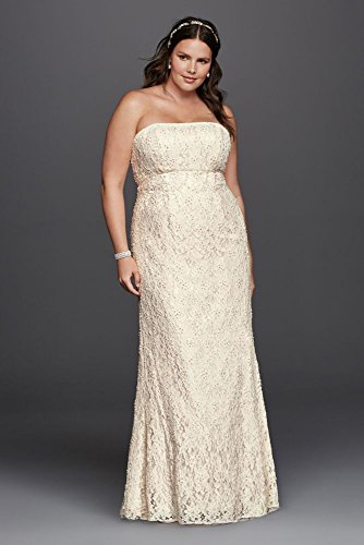 Lace Empire Waist Plus Size Wedding Dress Style 9s8551 Ivory 18w,Fashionable Lace Dress Styles For Wedding Guest
