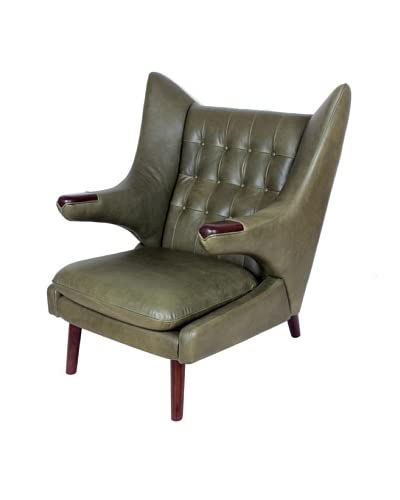 Control Brand Olsen Leather Lounge Chair, Antique Green As You See