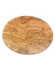 Berard 54177 French Olive-Wood Handcrafted Round Cutting Board by Berard