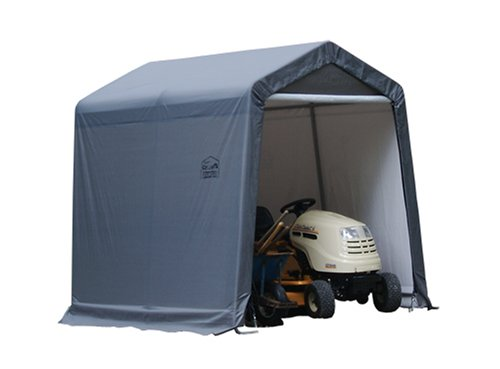 ShelterLogic Shed-in-a-Box with Auger Anchors, Peak, Gray (Instant Garage compare prices)
