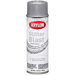 Krylon K03802 Glitter Blast, Silver Flash