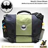 Stork Tools Daddy Diaper Bag for Men (Navy and Bright Green)