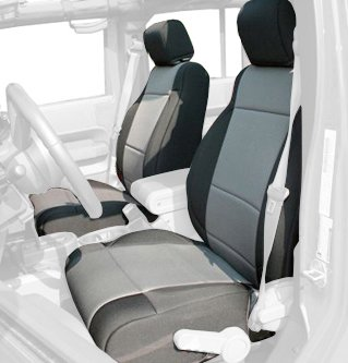 Rugged Ridge 13215.09 Black Neoprene Front Seat Cover front-311572