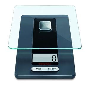 Soehnle Fiesta - Báscula de cocina, LCD, color negro/gris