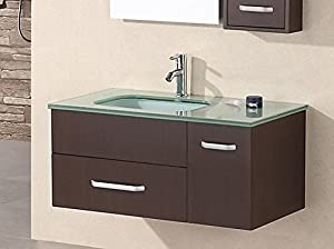 Design Element Christine Wall-Mount Single Sink Vanity Set, 35-Inch