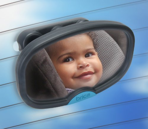BRICA Deluxe Stay-in-Place Mirror for In Car Safety