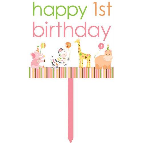 Creative Converting Sweet At One Girls Happy 1St Birthday Yard Sign
