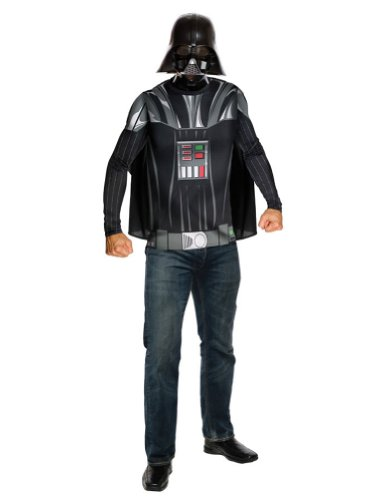 Adult-Costume Darth Vader Adult Top Cape & Mask Halloween Costume