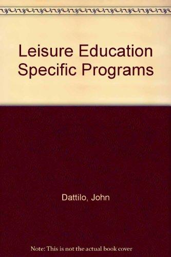 Leisure Education Specific Programs