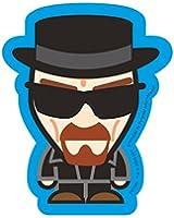 Official Breaking Bad Sticker - Heisenberg Caricature in Black Suit