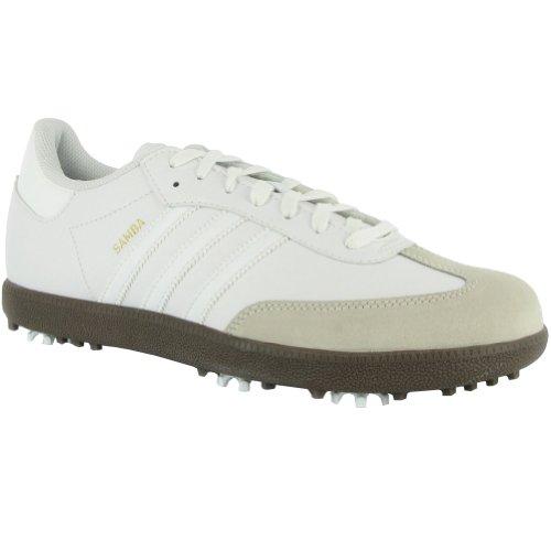 Imagen de adidas JR. Samba Golf Shoe (Little Kid / niño grande), blanco / blanco / negro, 2 M EE.UU. Poco Kid